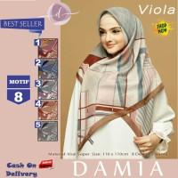 Jilbab Segi Empat Viola Voal Super Motif 8 By Damia Scarf - Kerudung