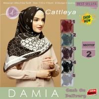 Jilbab Segi Empat Cattleya Ultra Fine Twill Motif 2 By Damia Scarf-Ori