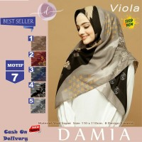 Jilbab Segi Empat Viola Voal Super Motif 7 By Damia Scarf - Kerudung