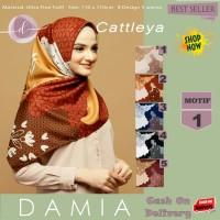 Jilbab Segi Empat Cattleya Ultra Fine Twill Motif 1 By Damia Scarf-Ori