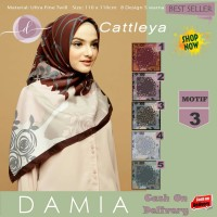 Jilbab Segi Empat Cattleya Ultra Fine Twill Motif 3 By Damia Scarf-Ori