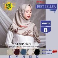 Jilbab Segiempat Sandsend Voal Motif 8 By Azzura -Hijab Scarf Original