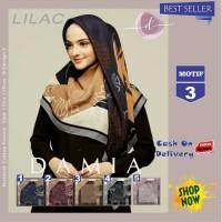 Jilbab Segi Empat Lilac Cotton French Motif 3 New By Damia Scarf - Ori