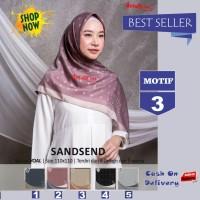 Jilbab Segiempat Sandsend Voal Motif 3 By Azzura -Hijab Scarf Original