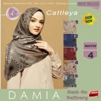 Jilbab Segi Empat Cattleya Ultra Fine Twill Motif 4 By Damia Scarf-Ori
