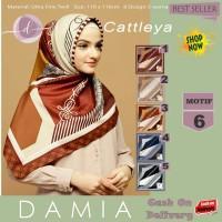 Jilbab Segi Empat Cattleya Ultra Fine Twill Motif 6 By Damia Scarf-Ori