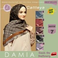 Jilbab Segi Empat Cattleya Ultra Fine Twill Motif 7 By Damia Scarf-Ori