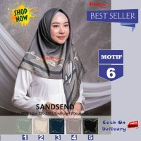 Jilbab Segiempat Sandsend Voal Motif 6 By Azzura -Hijab Scarf Original