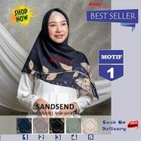 Jilbab Segiempat Sandsend Voal Motif 1 By Azzura -Hijab Scarf Original