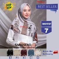 Jilbab Segiempat Sandsend Voal Motif 7 By Azzura -Hijab Scarf Original