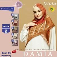 Jilbab Segi Empat Viola Voal Super Motif 2 By Damia Scarf - Kerudung