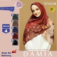 Jilbab Segi Empat Viola Voal Super Motif 4 By Damia Scarf - Kerudung