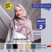 Jilbab Segiempat Sandsend Voal Motif 2 By Azzura -Hijab Scarf Original