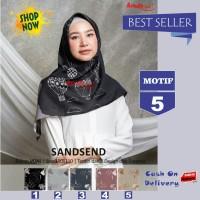 Jilbab Segiempat Sandsend Voal Motif 5 By Azzura -Hijab Scarf Original