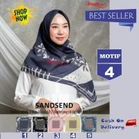 Jilbab Segiempat Sandsend Voal Motif 4 By Azzura -Hijab Scarf Original