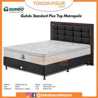 Guhdo Standard Plushtop 180x200 Komplit Set Sandaran Metropolis