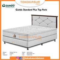 Guhdo Standard Plushtop 160x200 Komplit Set Sandaran Paris