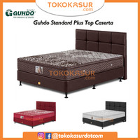 Guhdo Standard Plushtop 180x200 Komplit Set Sandaran Caserta