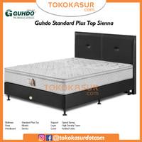 Guhdo Standard Plushtop 200x200 Komplit Set Sandaran Sienna