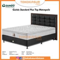 Guhdo Standard Plushtop 160x200 Komplit Set Sandaran Metropolis