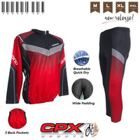 Paket Jersey Sepeda Tangan panjang Plus Celana Sepeda Panjang Sebetis