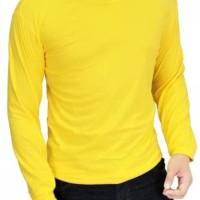 Baju Kaos Polos Lengan Panjang Pria Warna Kuning