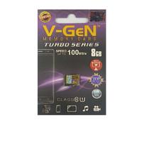 V-gen Micro SD Vgen 8GB Class 10 TURBO SERIES Memory Card HP 8 GB NA