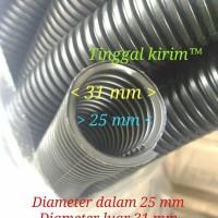 Selang fleksibel belah 25 mm untuk membungkus/merapihkan macam2 kabel