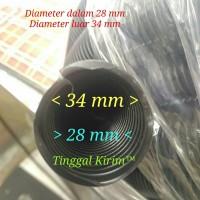 Selang fleksibel belah 28 mm untuk membungkus/merapihkan macam2 kabel