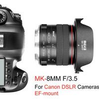 Lensa Meike 8mm F3.5 Fisheye EF Mount Untuk Kamera Canon DSLR