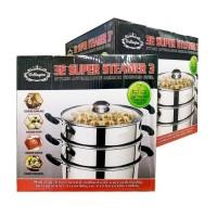 Panci Steamer 3Susun 32cm Wellington Stainless Steel