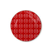 Zen Piring Ornament Red - Merah diameter 21 cm