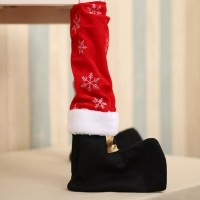 1pc Table Leg Chair Foot Covers Christmas Decoration / Bottle Cover