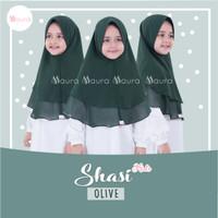 Khimar Anak Shasi Kids OLIVE by Maura Hijab Ceruti Babydoll