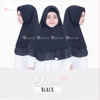 Khimar Anak Shasi Kids BLACK by Maura Hijab Ceruti Babydoll