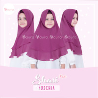 Khimar Anak Shasi Kids FUSCHIA by Maura Hijab Ceruti Babydoll