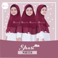 Khimar Anak Shasi Kids MAROON by Maura Hijab Ceruti Babydoll