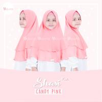Khimar Anak Shasi Kids CANDY PINK by Maura Hijab Ceruti Babydoll