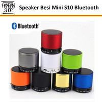 Speaker Mini Besi S10 Bluetooth Lampu Wireless Portable Speker