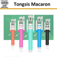 Tongsis Macaron Selfie Stick Lipat Makaron Holder U Tongkat Narsis