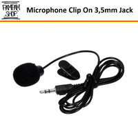 Microphone Clip On Mic Klip On for Youtuber Shooting Smule 3.5mm Jack