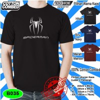 B035 Kaos Distro Kaos Superhero Spiderman Polyflex 13