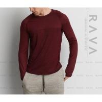 Harga rava baju kaos pria raglan lengan panjang original premium | antitipu.com