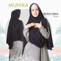 Hijab Instan Bergo Dewasa ORI Munira MB 04 Bergo Non Padd Belah Depan