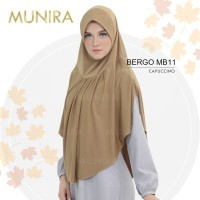 Jilbab Instan Daily Ori Munira MB 11 Hijab Syari Jersey Polos Pet Busa