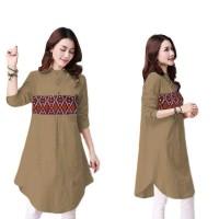 Harga blouse wanita adra blouse motif batik etnik atasan wanita   antitipu.com