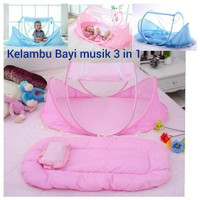 SH Kelambu Bayi Music Series 3 in 1 Kasur dan Bantal, ready pink