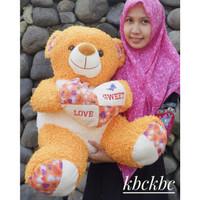 Boneka Teddy Bear Kriting Love Jumbo