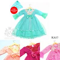 Promo Gaun Gamis Pesta Dress Princess Anak Perempuan 2-12 tahun KA17 - Fanta, 1-4 tahun