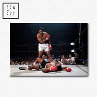 Muhammad Ali Vintage - Poster + frame borderless - Size 25x17 cm